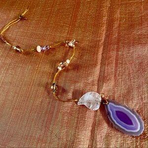 NEW Purple Agate + Pink Quartz Beaded Sun Catcher